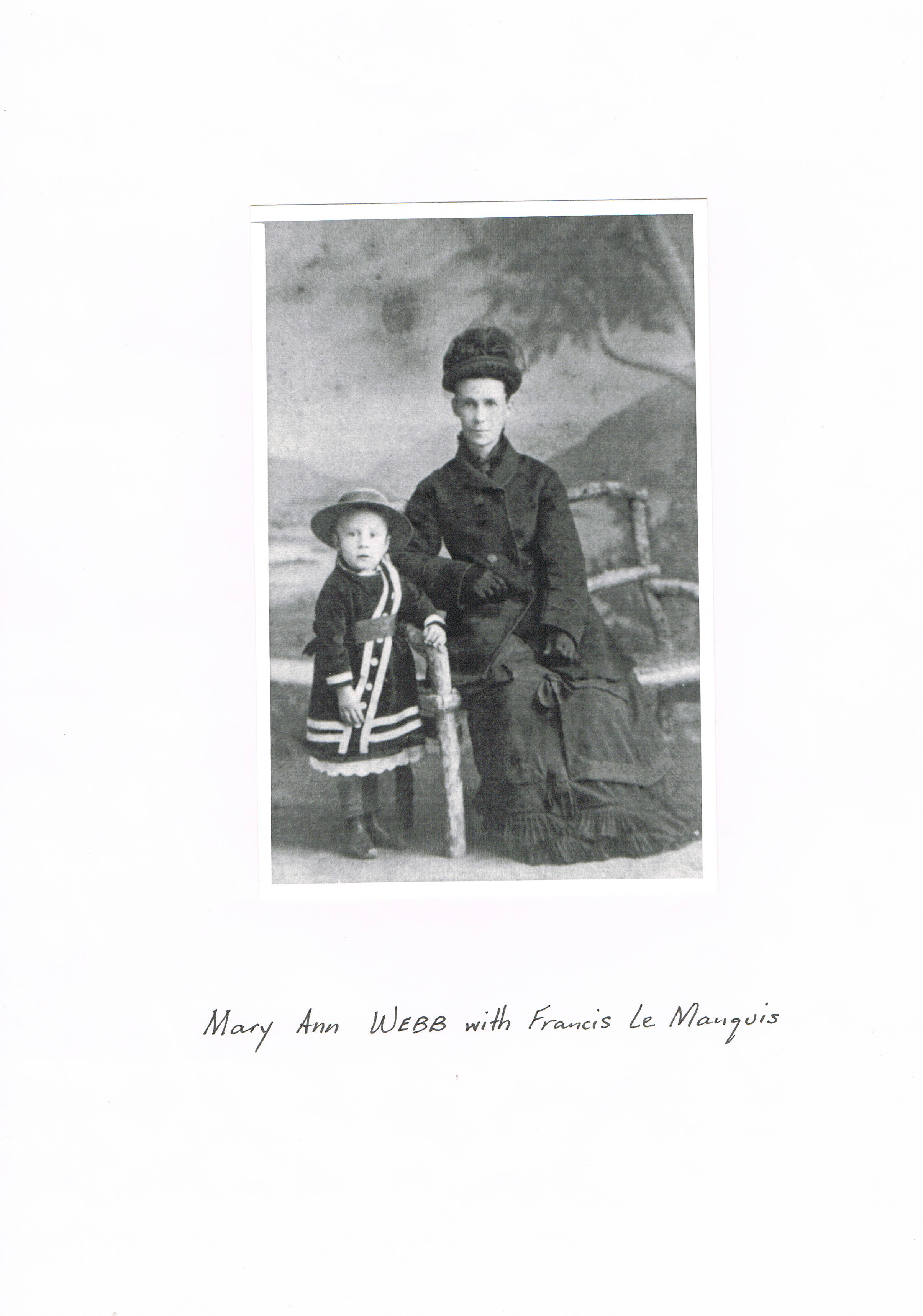 Mary Anne Webb (Glenn) and Francis Le Manquais Webb